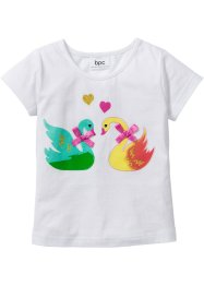 T-Shirt mit Applikationen, bpc bonprix collection, weiß bedruckt