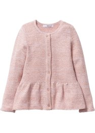 Glitzer-Strickjacke, bpc bonprix collection, zartrosa/gold