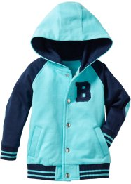 Baby Baseball-Jacke, bpc bonprix collection, dunkelblau/aqua