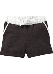Sweatshorts, bpc bonprix collection, anthrazit meliert/wollweiß