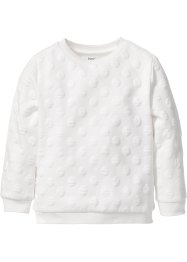 Struktur-Sweatshirt, bpc bonprix collection, wollweiß