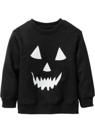 "Sweatshirt ""Glow in the dark"" Halloween, bpc bonprix collection, schwarz bedruckt"