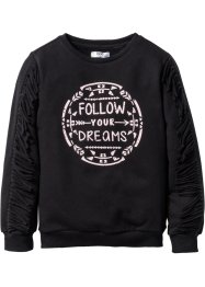 Sweatshirt mit Fransen, bpc bonprix collection, schwarz