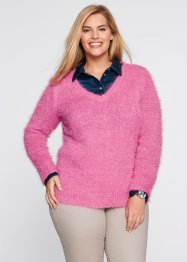Flausch-Pullover, bpc bonprix collection, mattpink