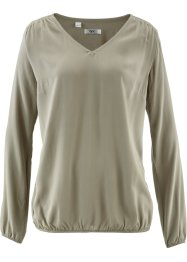 Bluse mit langen Ärmeln, bpc bonprix collection, new khaki