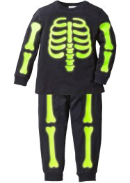 "Pyjama ""GLOW IN THE DARK"" (2-tlg. Set), bpc bonprix collection, schwarz bedruckt"