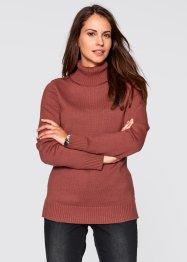 Rollkragen-Pullover, bpc bonprix collection, marsalabraun