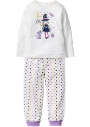 Pyjama (2-tlg. Set), bpc bonprix collection, wollweiß