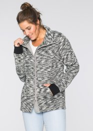 Strickfleece-Jacke, bpc bonprix collection, schwarz
