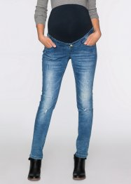 Umstandsjeans im Destroyed-Look, Skinny, bpc bonprix collection, blue stone