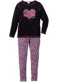 Pyjama (2-tlg. Set), bpc bonprix collection, schwarz/rosa