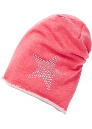 Beanie mit Strassstern, bpc bonprix collection, dunkelpink