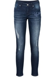 Jeans mit Stickerei, BODYFLIRT, dark denim