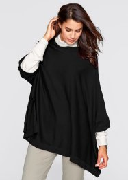 Poncho-Pullover, bpc bonprix collection, schwarz