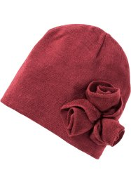 Beanie mit Applikationen, bpc bonprix collection, bordeaux