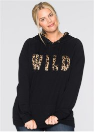 Sweatshirt, bpc bonprix collection, leopard schwarz