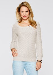 Pullover, bpc bonprix collection, wollweiß
