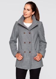 Cabanjacke, bpc bonprix collection, grau meliert