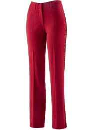 Stretchhose mit Pailletten, bpc selection, dunkelrot
