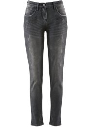 Stretchjeans mit Glitzersteinen, bpc selection, black denim