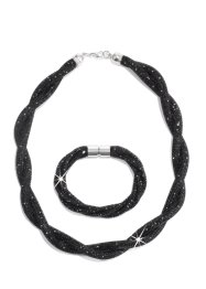 Set Collier und Armband, bpc bonprix collection, schwarz