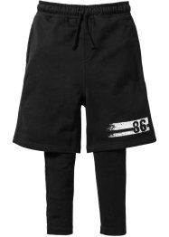 Shorts + Leggings (2-tlg. Set), bpc bonprix collection, schwarz