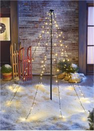 "LED-Outdoor-Deko "" Tannenbaum XXL"", bpc living, schwarz/transparent"