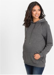 Umstands-Sweatshirt, bpc bonprix collection, grau meliert