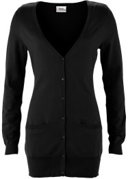 Basic Feinstrick-Jacke, bpc bonprix collection, schwarz