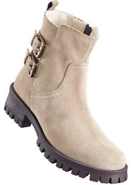 Lederstiefelette, bpc bonprix collection, naturstein
