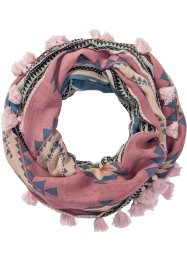 Ethno-Loop mit Bommeln, bpc bonprix collection, rosa/multi