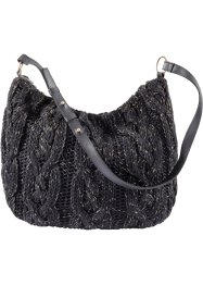 Stricktasche, bpc bonprix collection, schwarz