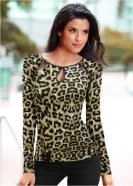 Blusa animal  print, leopardo
