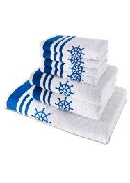 Handtuch mit dezentem Ankermotiv, bpc living bonprix collection