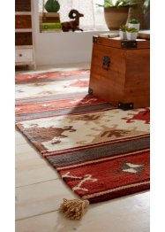 Kelim-Teppich mit Quasten, bpc living bonprix collection