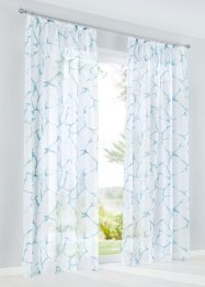 Transparente Gardine mit Druck (1er Pack), bpc living bonprix collection