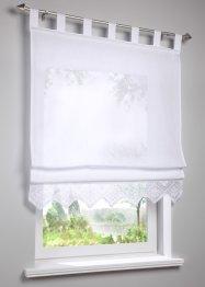 Halbtransparentes Raffrollo mit Häkelkante, bpc living bonprix collection