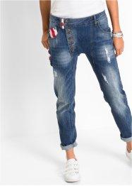 Boyfriend-Jeans mit aufgesetzter Flagge, RAINBOW