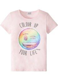 T-Shirt mit Wendepailletten, emoji