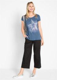 Flammgarn-Shirt mit kurzen Ärmeln, bpc bonprix collection