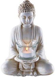 Deko-Figur Buddha mit Teelichthalter, bpc living bonprix collection