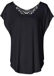 Shirt mit Häkeleinsatz, BODYFLIRT