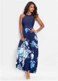Sommer-Maxikleid mit Blumen-Print und Spitze, BODYFLIRT boutique