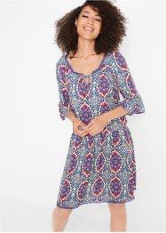 Carmen-Kleid, bedruckt, Kurzarm, John Baner JEANSWEAR