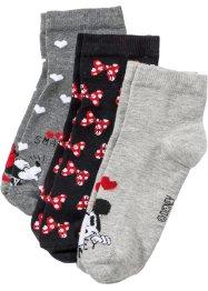 Kurzsocken Mickey Mouse (3er-Pack), Disney