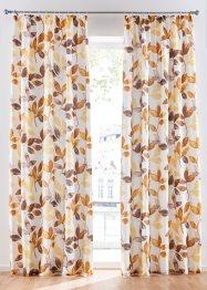 Microfaser Vorhang mit Blätter Druck (1er Pack), bpc living bonprix collection