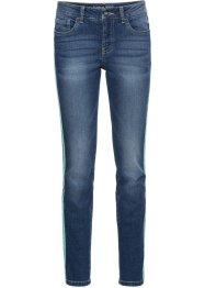 Verkürzte Skinny Jeans mit Racerstripe, RAINBOW