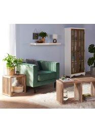 Sessel mit Liniensteppung und Samtbezug, bpc living bonprix collection