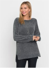 Chenille-Long-Pullover, RAINBOW