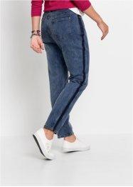 Boyfriend Jeans mit seitlichem Streifen, RAINBOW